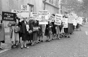 Picketers-representing-an-organization-known-as-Women-Strike-for-Peace-carry-placards-outside-the-United-Nations-headquarters-in-New-York-City-where-the-U.N.-Security-Council-considers-the-Cuban-missile-crisis-in-a-special-m